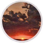 Stony Clouds Round Beach Towel