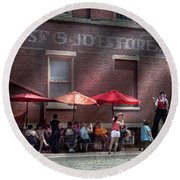 Storefront - Bastile Day In Frenchtown Round Beach Towel