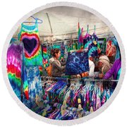 Storefront - Tie Dye Is Back  Round Beach Towel