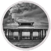 Storm Before The Calm Round Beach Towel