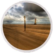 Storm Brewing Round Beach Towel by Adrian Evans
