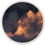 Storm Cloud Highlighted By Sun Round Beach Towel