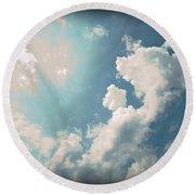Storm Clouds - 1 Round Beach Towel