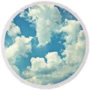 Storm Clouds - 2 Round Beach Towel