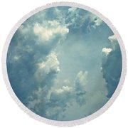 Storm Clouds - 3 Round Beach Towel