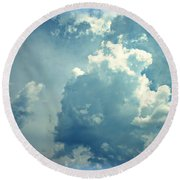 Storm Clouds - 4 Round Beach Towel