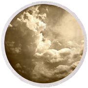 Storm Clouds - 5 Round Beach Towel
