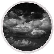 Storm Clouds 1 Round Beach Towel