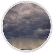 Storm Over The Mesa Round Beach Towel