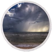 Storm Rider Round Beach Towel by Nick  Shirghio