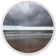 Storm Watch Round Beach Towel