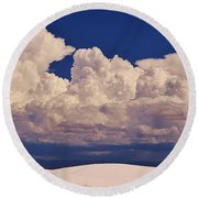 Storms Over The Mountains Round Beach Towel