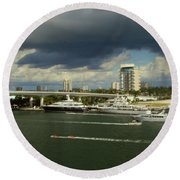 Stormy Fort Lauderdale Round Beach Towel