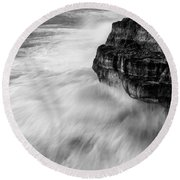 Stormy Sea 1 Round Beach Towel