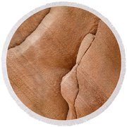 Story In The Rock Round Beach Towel