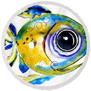 Stout Lookout Fish Round Beach Towel