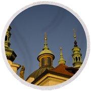 Strahov Monastery - Prague Czech Republic Round Beach Towel