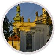 Strahov Monastery - Prague Round Beach Towel
