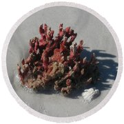Stranded Coral Round Beach Towel