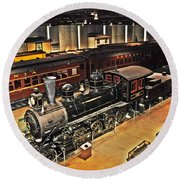 Strasburg Railroad Museum Round Beach Towel