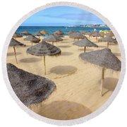 Straw Sunshades Round Beach Towel