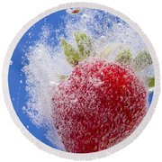 Strawberry Soda Dunk 1 Round Beach Towel