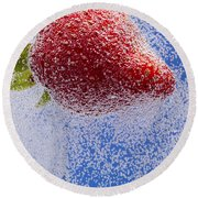 Strawberry Soda Dunk 2 Round Beach Towel