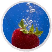 Strawberry Soda Dunk 5 Round Beach Towel by John Brueske