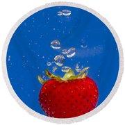 Strawberry Soda Dunk 6 Round Beach Towel