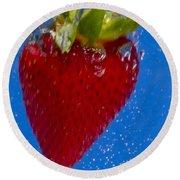 Strawberry Soda Dunk 7 Round Beach Towel