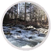 Stream Round Beach Towel
