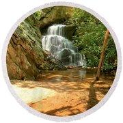 Stream To The Falls Round Beach Towel