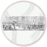 Street Advertising, 1842 Round Beach Towel