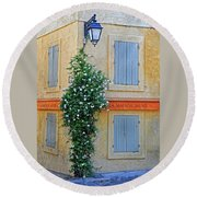 Street Corner In Provence Round Beach Towel
