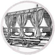 Streetcar, C1880 Round Beach Towel