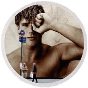 Streets Of New York 10 Round Beach Towel