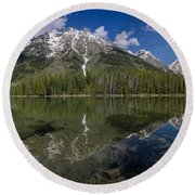 String Lake Panorama Round Beach Towel