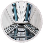 Structure Reflections Round Beach Towel