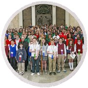 Students Catholic Schools 2007 Round Beach Towel