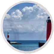 Studio Lighthouse Round Beach Towel