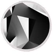 Study In Black And White 103012 Round Beach Towel