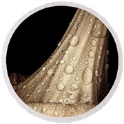 Study In Brown Round Beach Towel