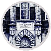 Study Of One Of The Oldest Catholic Churches In New Orleans Round Beach Towel