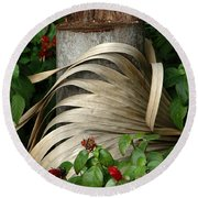 Stump And Fronds Round Beach Towel