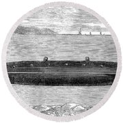 Submarine, 1852 Round Beach Towel