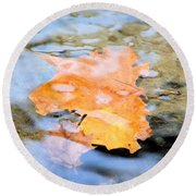 Submerged Sunset Round Beach Towel
