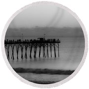 Subtle Pier Round Beach Towel