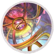 Subtlety Abstract Round Beach Towel