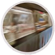 Subway Blur Round Beach Towel