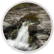 Sucker River Falls 2 N Round Beach Towel